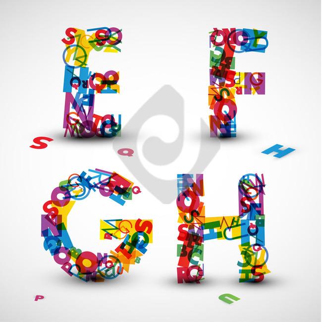 平面设计 其他 艺术字体设计 > 整套26英文字母创意艺术设计  找相似