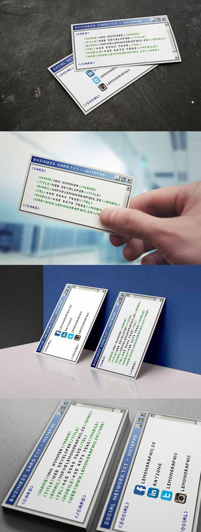 创意对话框商务名片模板
