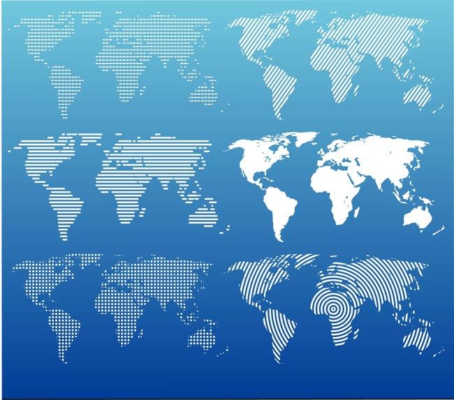 创意世界地图地图世界地图