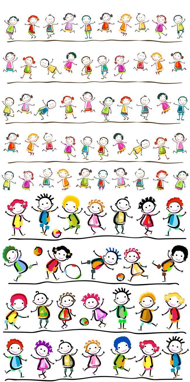 小孩子玩手机卡通图