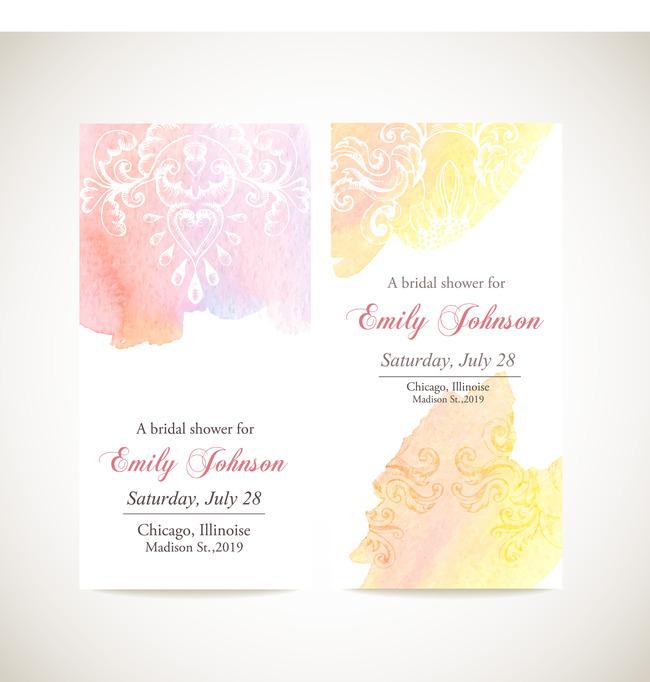 时尚西式婚礼封面设计素材