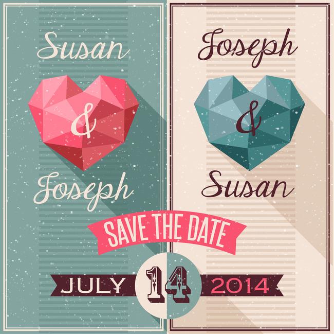 创意心形婚礼封面设计图片