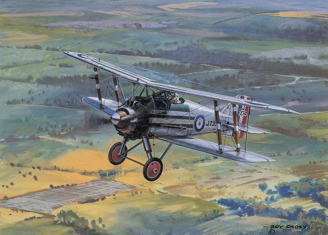 二战战机空战飞机美术油画插画