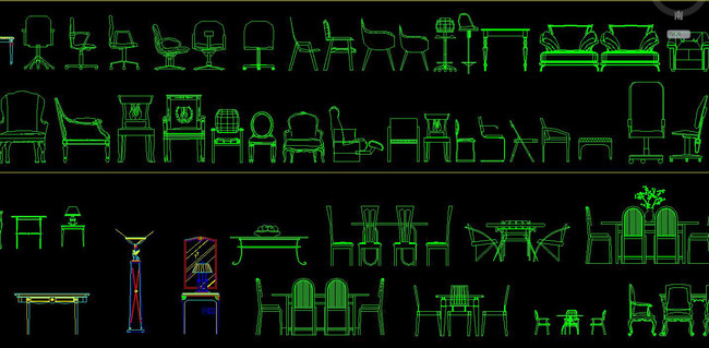 cad欧式家具图库大全罗马柱雕花构件角线