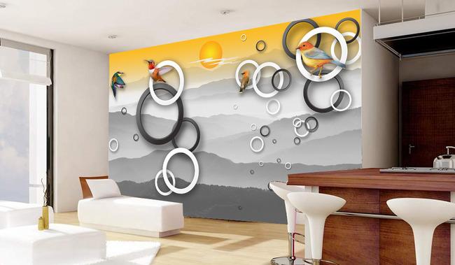 玻璃背景墙图片 手绘背景墙 客厅 沙发 室内装饰 卧室 背景画 电视墙