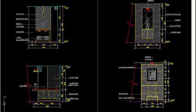 9款常用玄关设计图块模板下载(图片编号:13200495)