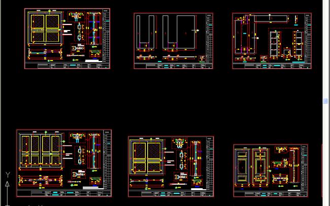 全套别墅门图纸节点图