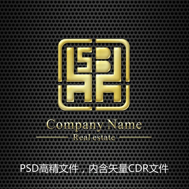 鼎字印章金色标志设计模板下载模板下载图片