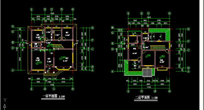 二层小别墅建筑施工图纸