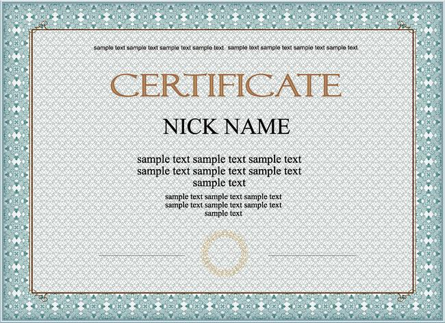 灰色简洁英文版证书设计模板下载
