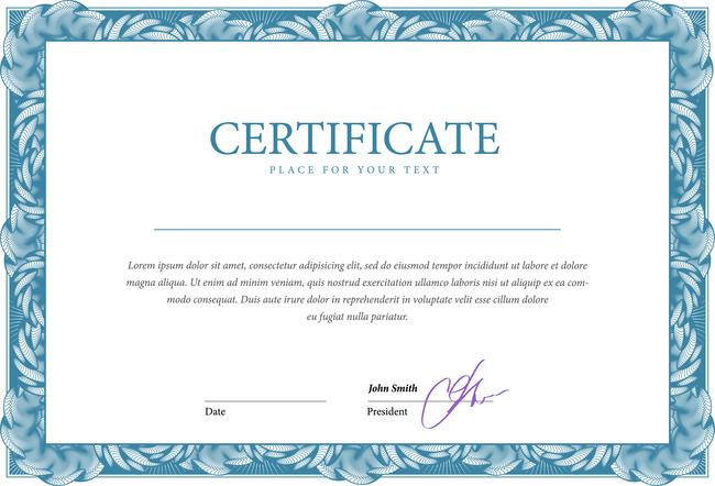 国外简洁荣誉证书设计模板下载(图片编号:13216499)