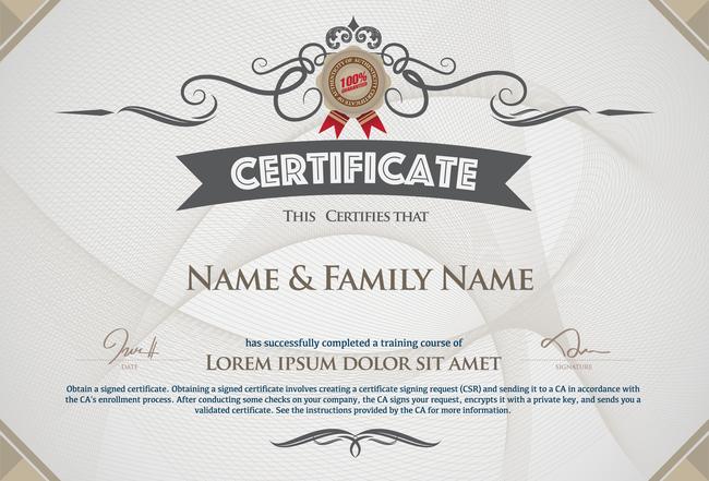 国外荣誉奖状证书设计模板下载