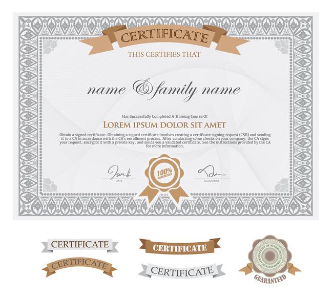 国外证书模板 学生证书