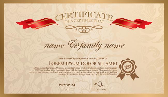 国外证书奖状模板图片下载