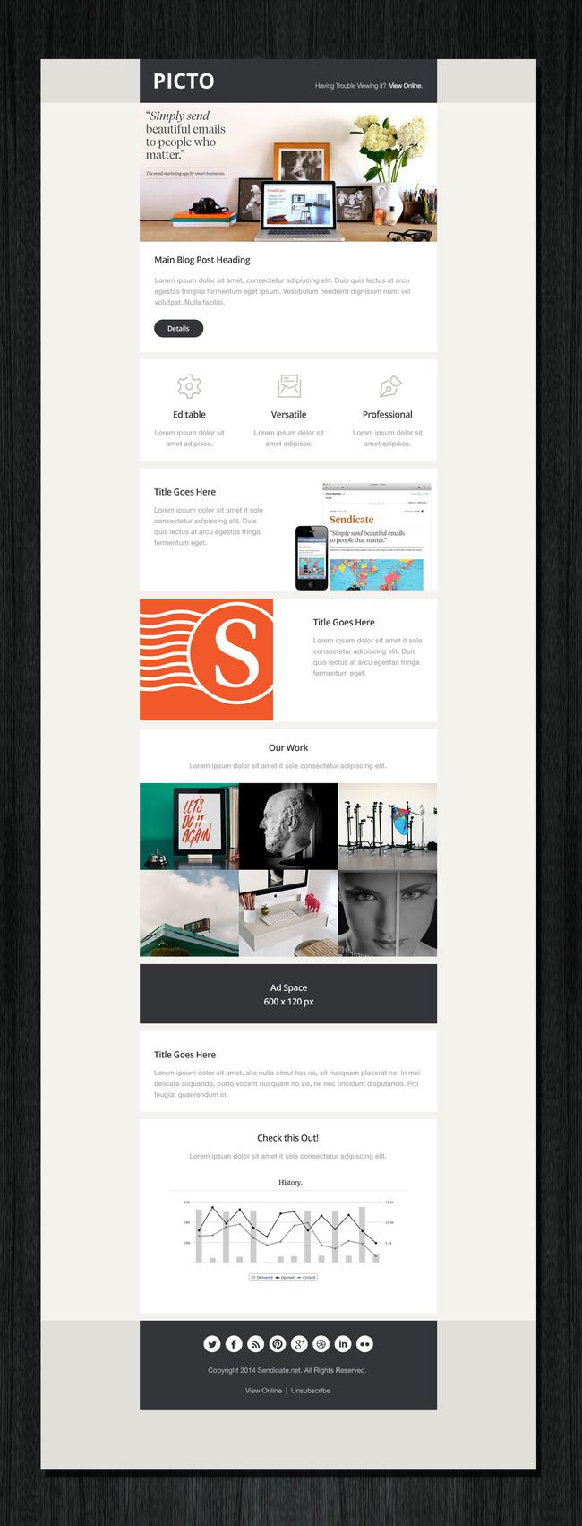 时尚简洁家居装饰类网站网页模板