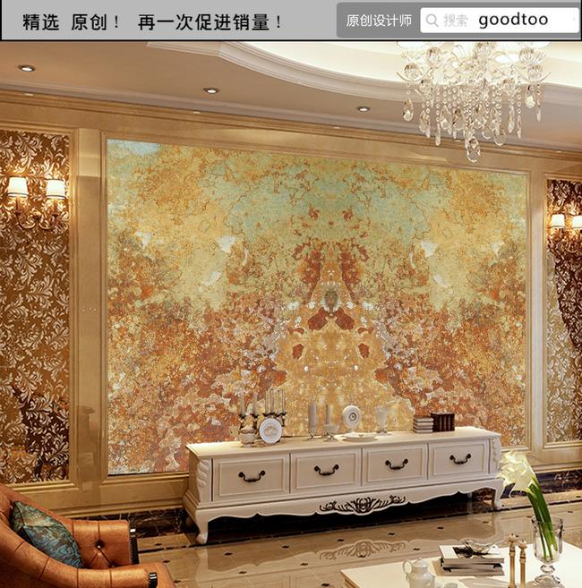 龙腾盛世大理石玉雕背景墙法式欧式3d