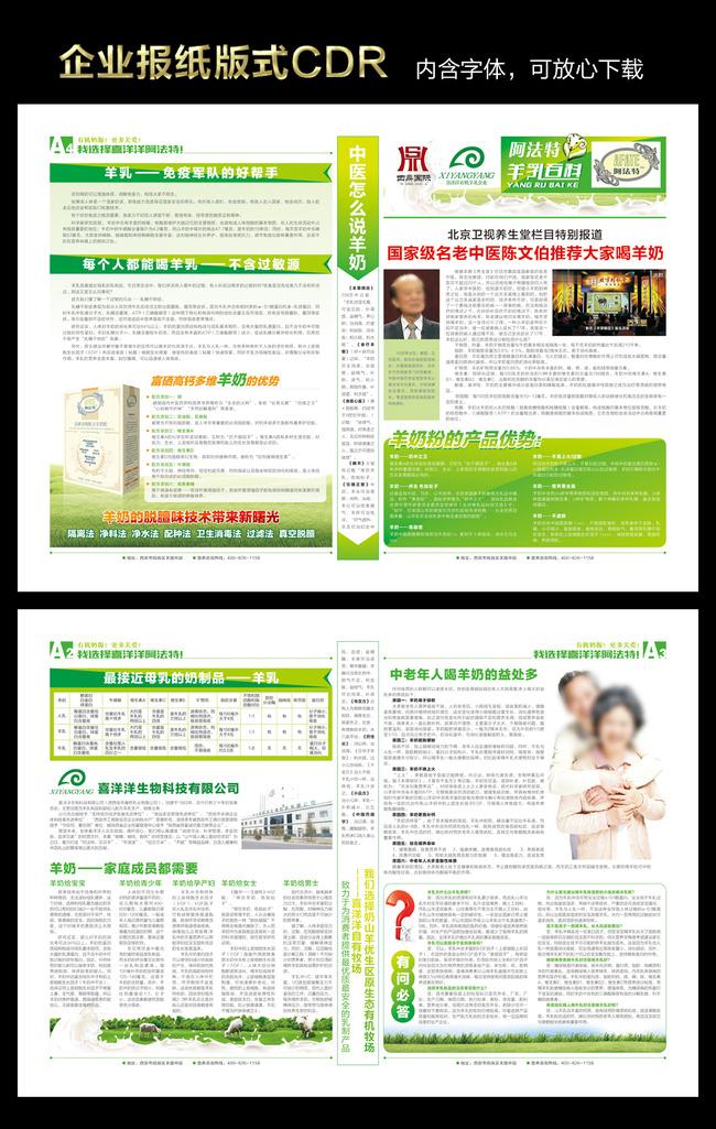 企业报纸版式设计模板下载