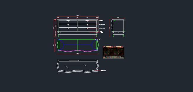 欧式家具cad图纸,玄关柜cad图纸5