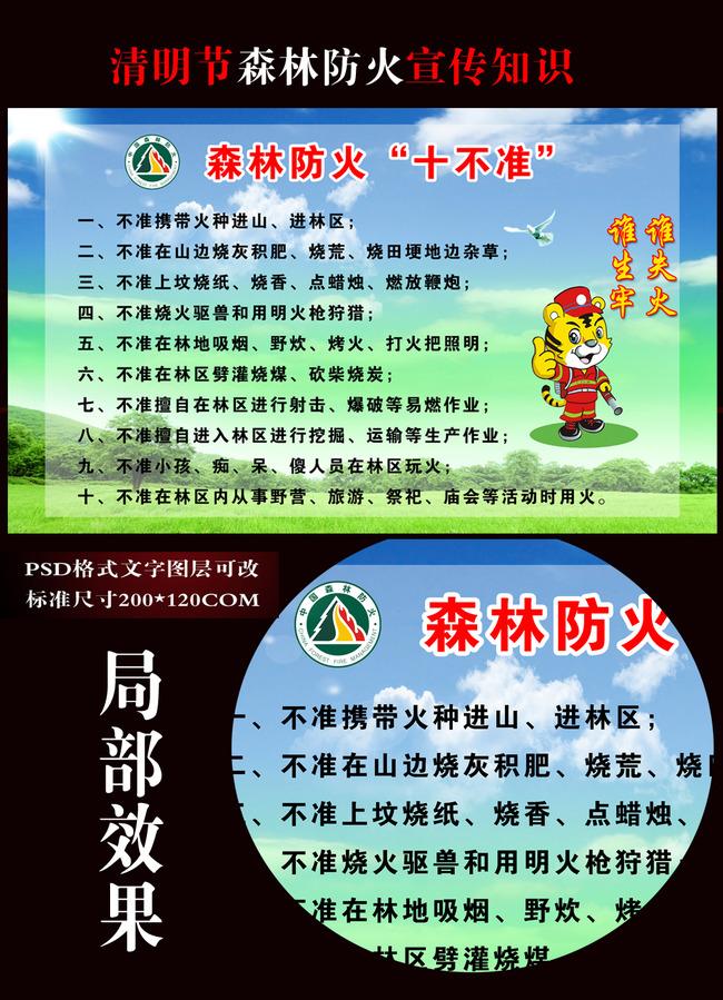 森林防火知识板报 森林防火标志 森林防火常知 消防展板消防安全消防图片