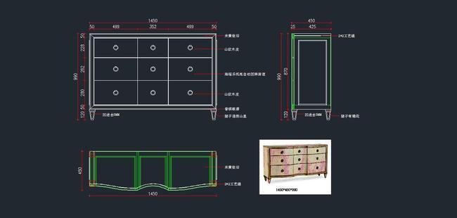 欧式家具cad图纸,电视柜cad图纸3