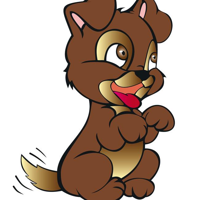 可爱卡通动物矢量图卡通小狗