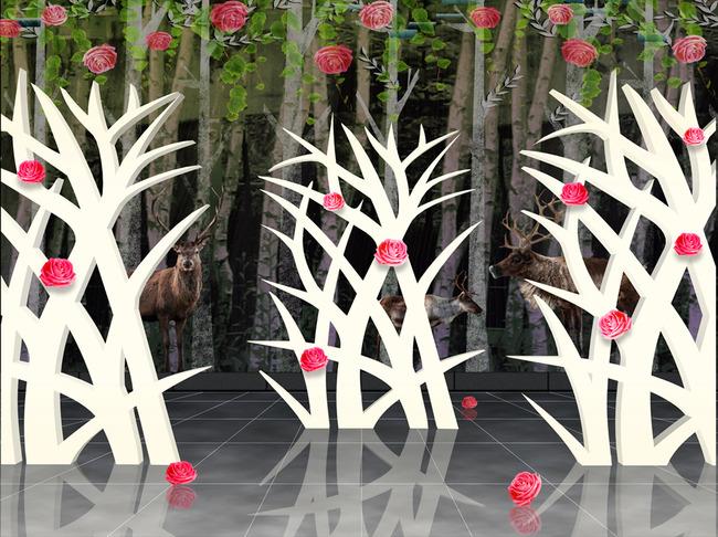 玫瑰花树图片大图大全