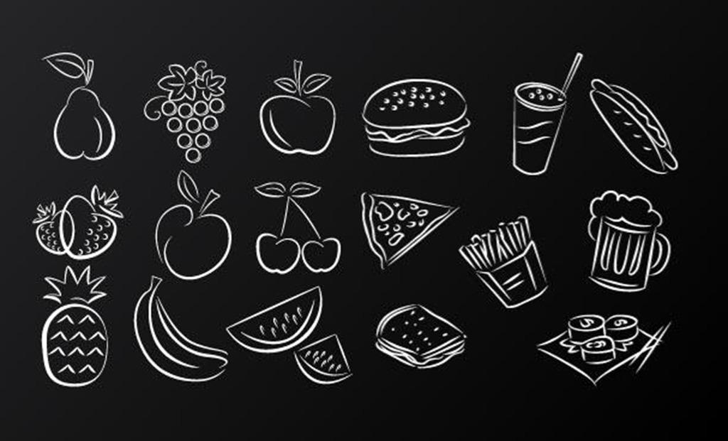 食物手绘ui图标