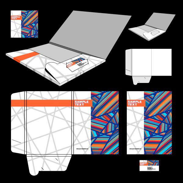 时尚文件夹封面设计