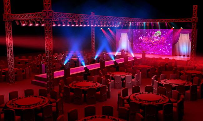 平面设计 舞台背景 婚礼舞台背景 > 大红色婚礼现场效果图源文件
