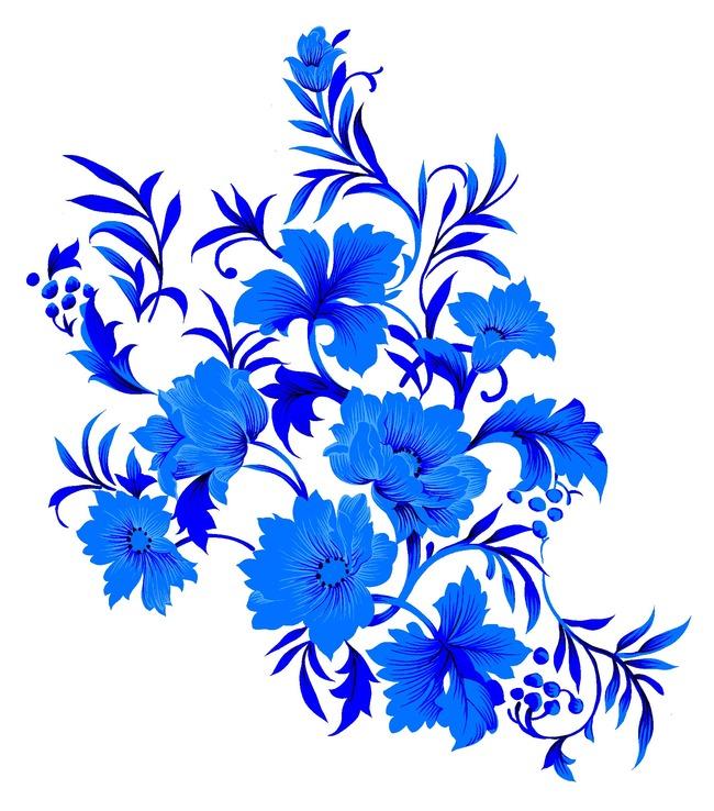 中国风素材 青花瓷飞鸟 青花瓷花纹 古典花纹 瓷器 陶瓷花纹 陶瓷纹样