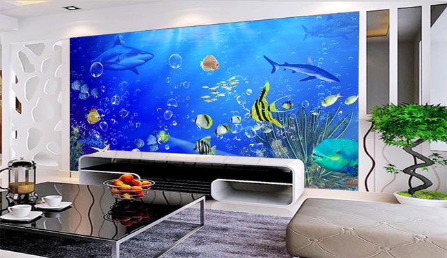 海底世界背景墙