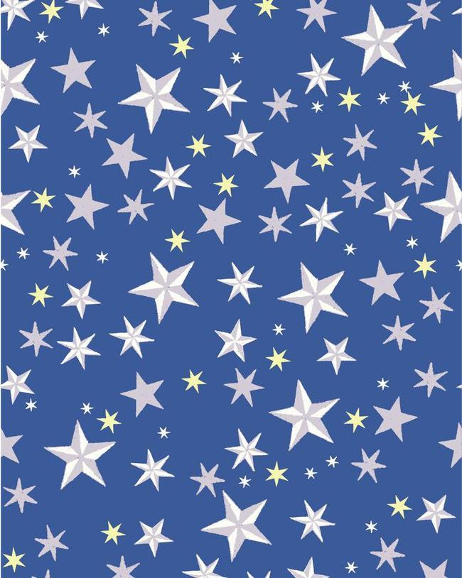 卡通五角星花纹图案