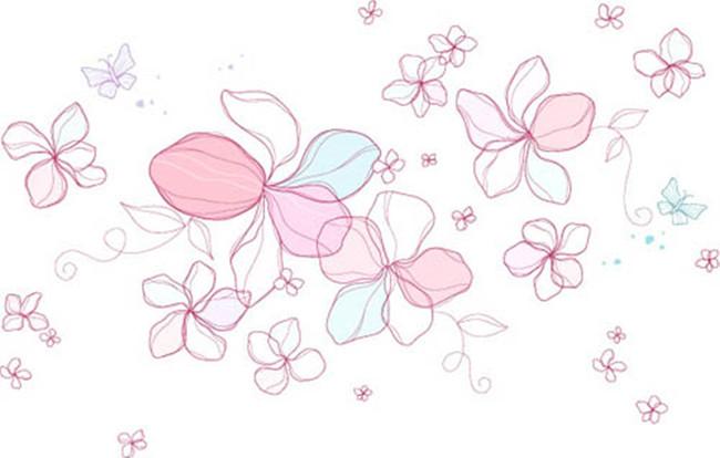 花纹图案设计 卡通图案 > 多彩卡通花朵图案  下一张> [版权