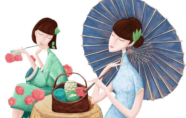 旗袍绘画步骤 设计