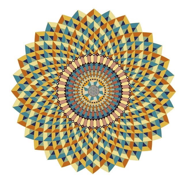精美圆形螺旋花纹图案