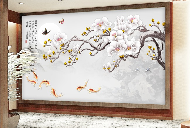背景墙|装饰画 电视背景墙 手绘电视背景墙 > 白玉兰图  下一张&nbsp