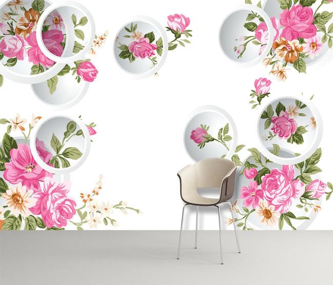 背景墙|装饰画 电视背景墙 3d电视背景墙 > 3d手绘玫瑰花背景墙  下一