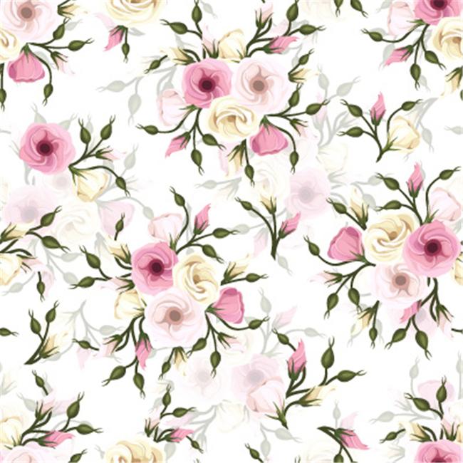 手绘韩式粉色花朵花卉矢量图案