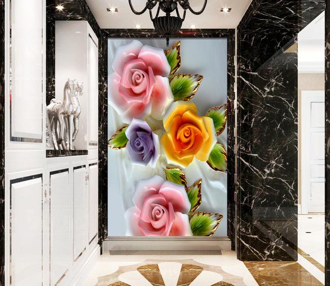 欧式玫瑰浮雕玄关高清图片下载(图片编号13252737)