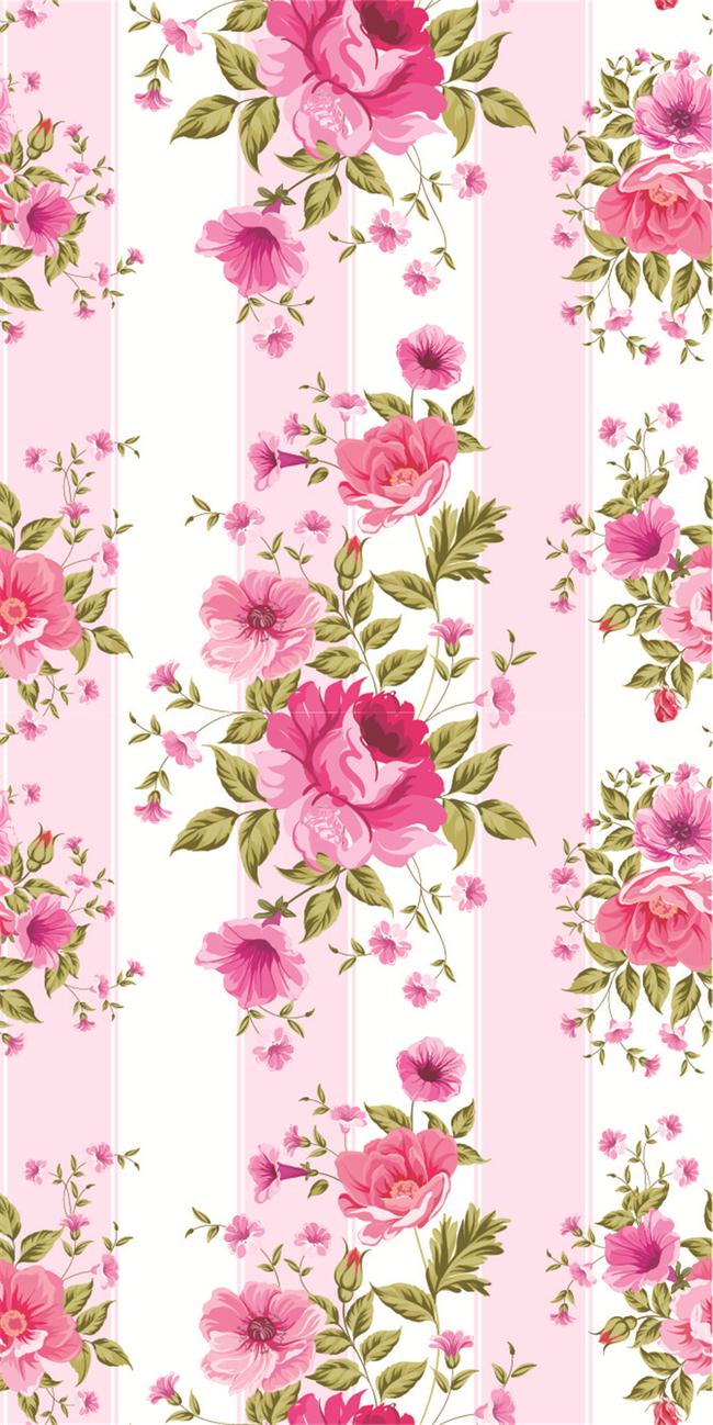 手绘粉色竖屏壁纸