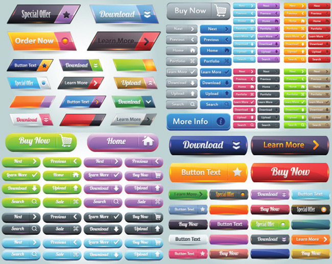 图标|ui设计 网页设计模板 其它 > 网站按钮矢量  下一张&gt