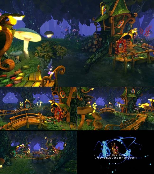 3D动画屏保 魔法森林 小 木屋 模板下载