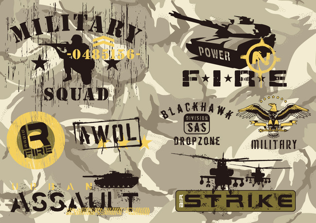 军工t恤图案设计