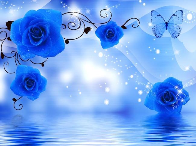 现代 电视墙 室内浪漫 时尚 室内装饰图片 水纹 装饰画 水中花