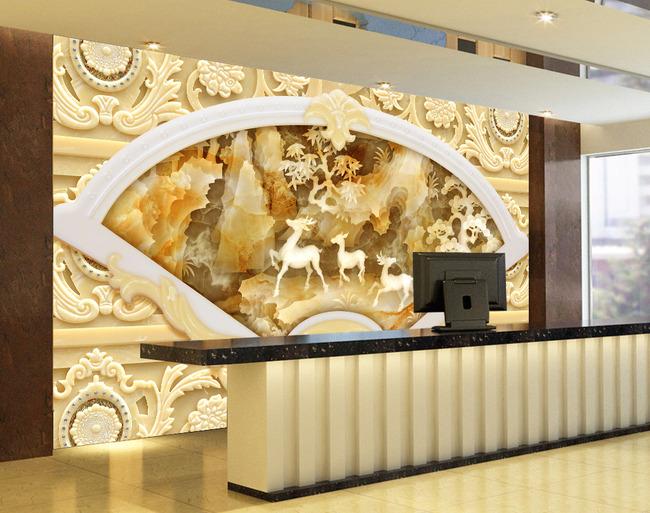 大理石玉雕壁画电视背景墙背景画