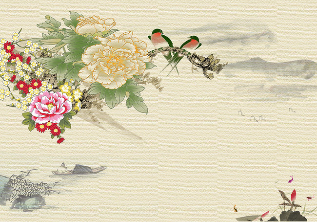 中式花鸟图