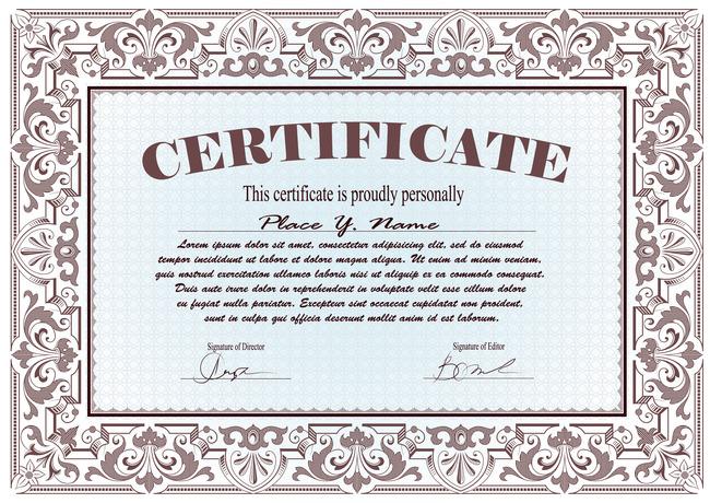 欧式时尚花纹证书包装设计模板下载(图片编号:)