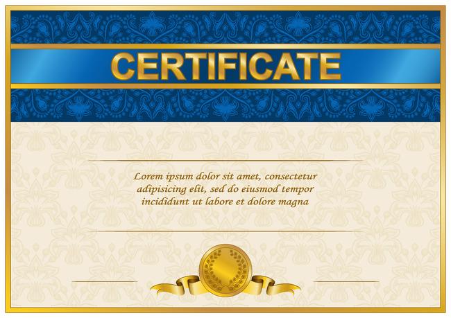 简洁高档国外荣誉证书设计模板下载(图片编号:)