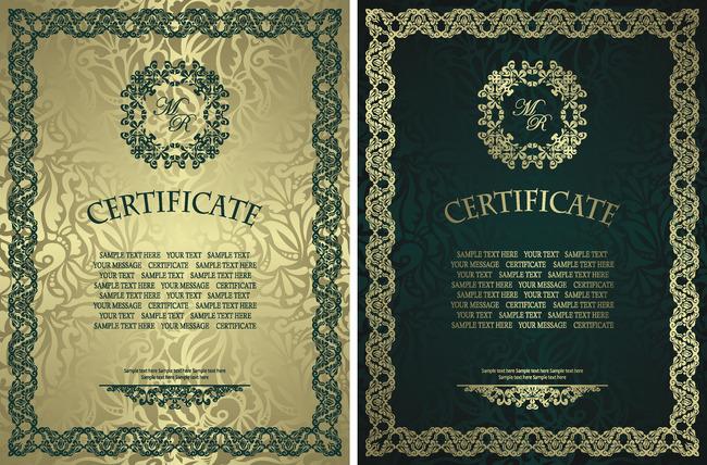 两款国外证书模板
