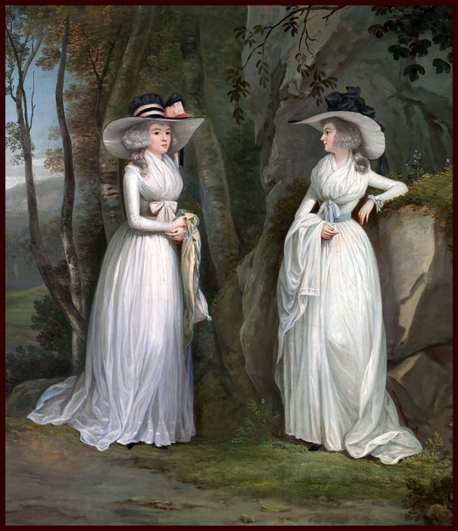 背景墙|装饰画 油画 人物油画 > 《埃莉诺和玛格丽特罗斯》古典主义油